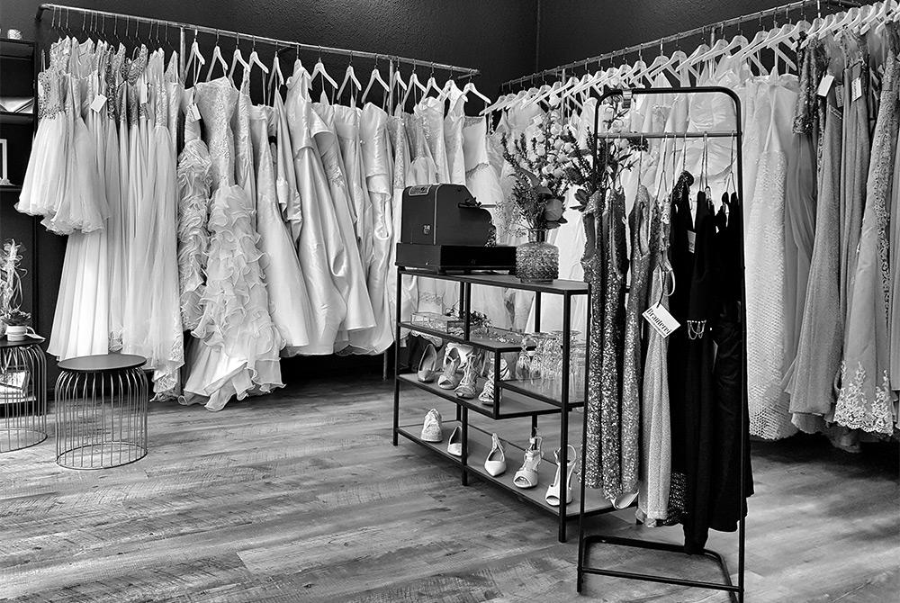 Brauterei - Brautmodegeschäft innen