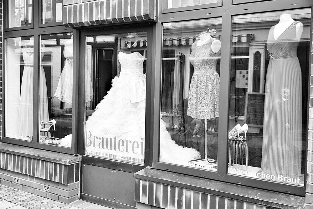 Ladenschaufenster Brauterei